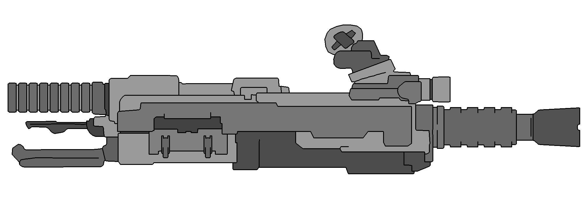 FIC-01 Flechette Cannon on Star Army Space Roleplay