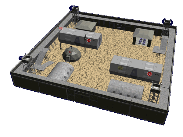 Type 33 Prefab Outpost Modules on Star Army Space Roleplay