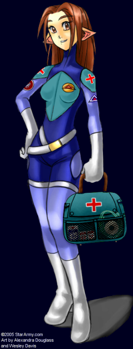 A Nekovalkyrja medic with a medical kit