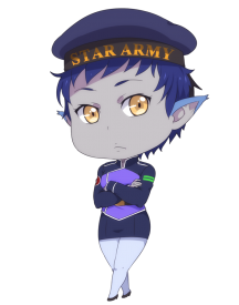 Star Army Enlisted Soldier in Duty Uniform