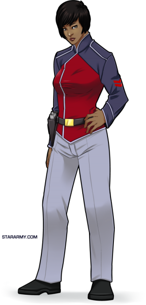 Human female in Star Army of Yamatai uniform